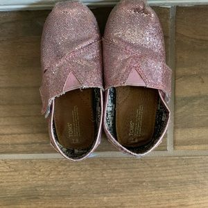 TOMS pink sparkle sneakers for girls
